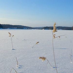 Ladoga lake in winter.