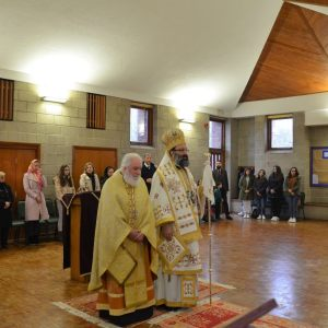 H.E. Metropolitan Silouan visits the parish of Holy Cross, Morecambe with Lancaster