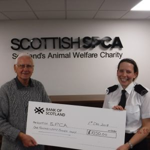SPCA Cheque presentation Dec 18