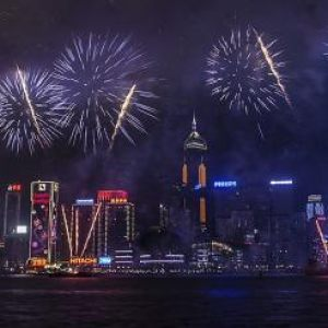 New Year Fireworks - Hong Kong 2013