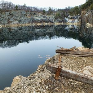 Reflections of a Quarry Wall